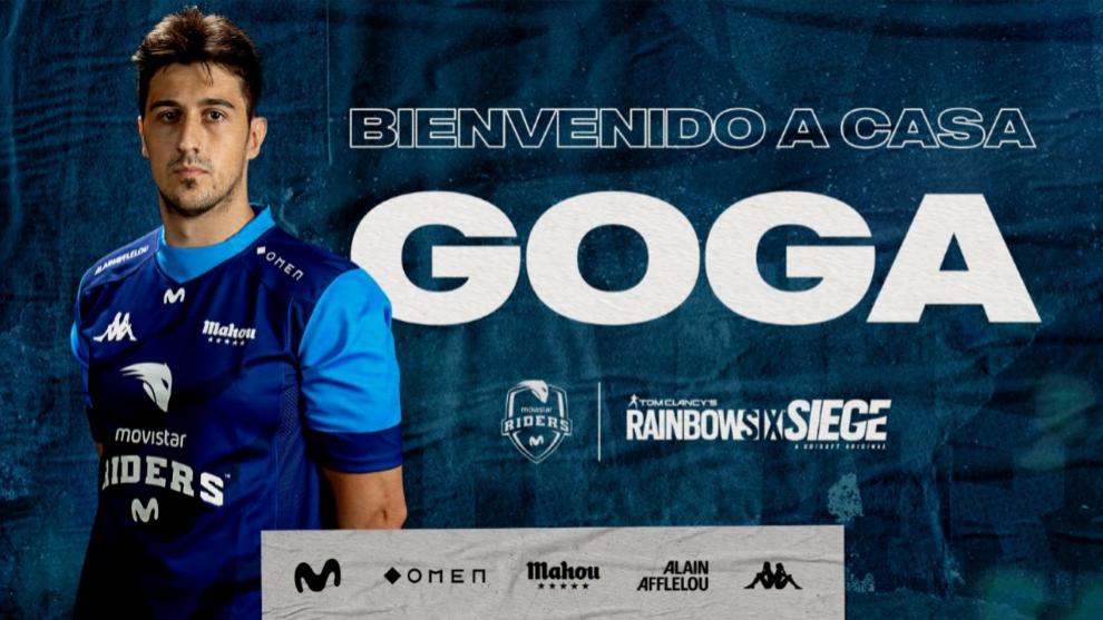 Movistar Riders ficha a Goga para el equipo de Rainbow Six Siege