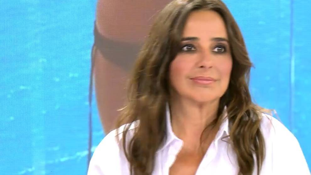 Carmen Alcayde, durante el programa de 'Sálvame' /