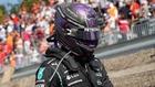 Lewis Hamilton después del accidente con Verstappen