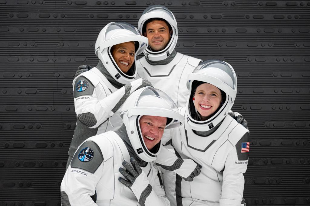 La tripulación de la misión 'Inspiration4' /