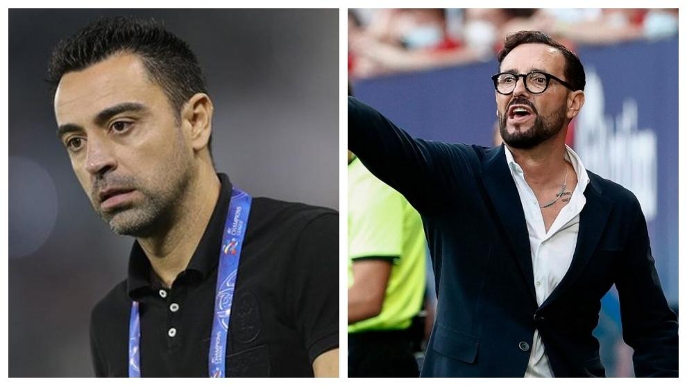 Xavi y Bordalás.