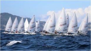 Imagen del Trofeo Concello de Vigo de Láser del pasado año.