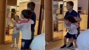 Mateo Messi lo vuelve a hacer: así trolea a Thiago mientras bailan una canción compuesta para  Leo