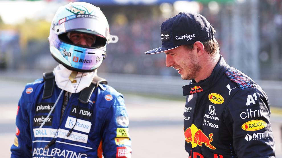 Ricciardo y Verstappen en Monza 2021