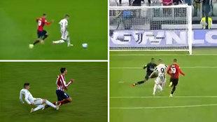 Theo no se atreve a 'hacer un Valverde' y Morata marca un golazo en una contra 'clónica'
