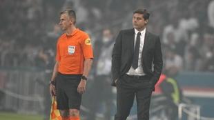 Mauricio Pochettino, en el encuentro ante el Olympique de Lyon.