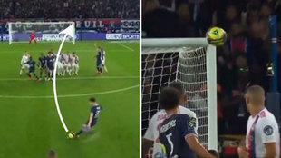 Y Messi, mientras, casi clava uno de sus mejores goles de falta: ¡qué pedazo de escuadrazo!