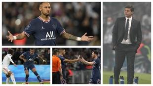 Pochettino, Neymar, Messi and Mbappe.