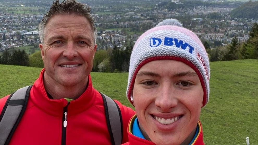 Ralf Schumacher y su hijo David.