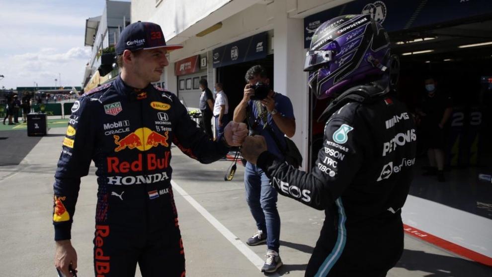 Verstappen y Hamilton en Hungría