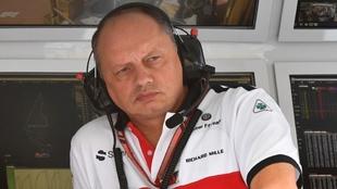 Frédéric Vasseur durante el Gran Premio de Abu Dabi 2018