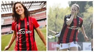 Vero Boquete, jugadora del AC Milan y exjugadora de la Selección.