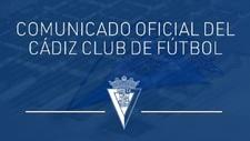 Comunicado oficial del Cádiz