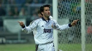 Christian Panucci, durante su etapa en el Real Madrid.