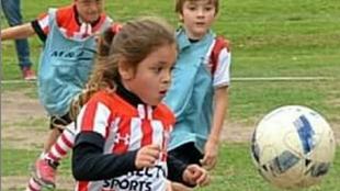 Felicitas Flores durante un partido.