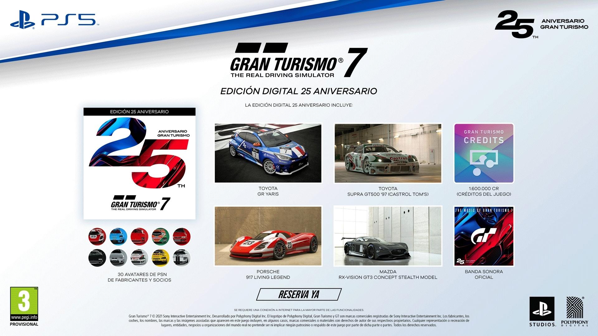 Gran Turismo 7 Edición Digital 25 aniversario