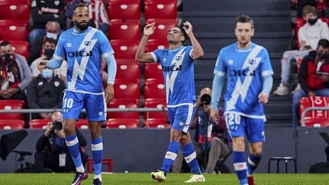 Radamel Falcao celebra su tanto al Athletic.