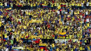 La afición de Colombia en un encuentro como local