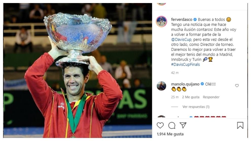 Fernando Verdasco,  director de las Davis Cup by Rakuten Finals 2021