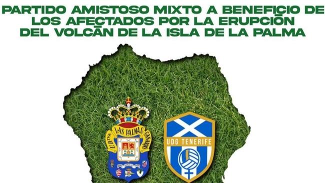 Cartel del amistoso entre Las Palmas y el UDG Tenerife.