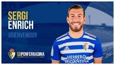 Sergi Enrich, nuevo futbolista de la 'Ponfe'