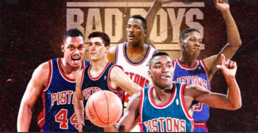 Mahorn, Laimbeer, Dumars, Thomas y Rodman, miembros de los 'Bad Boys' de los Pistons.