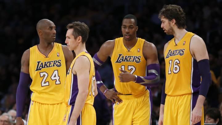 Kobe Bryant, Steve Nash, Dwight Howard y Pau Gasol.