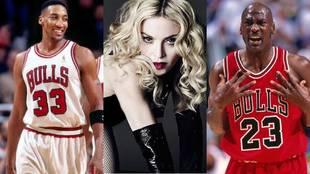 Scottie Pippen Madonna Michael Jordan