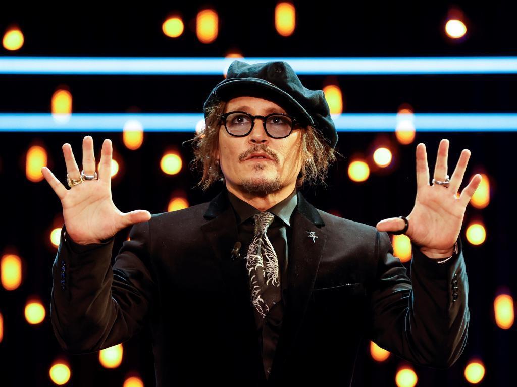 Johnny Depp, durante la ceremonia de recogida del Premio Donostia /