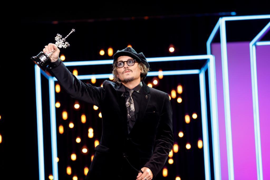Johnny Depp, con el Premio Donostia /