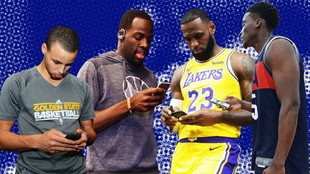 NBA players frequently tweet in the early hours before a game.