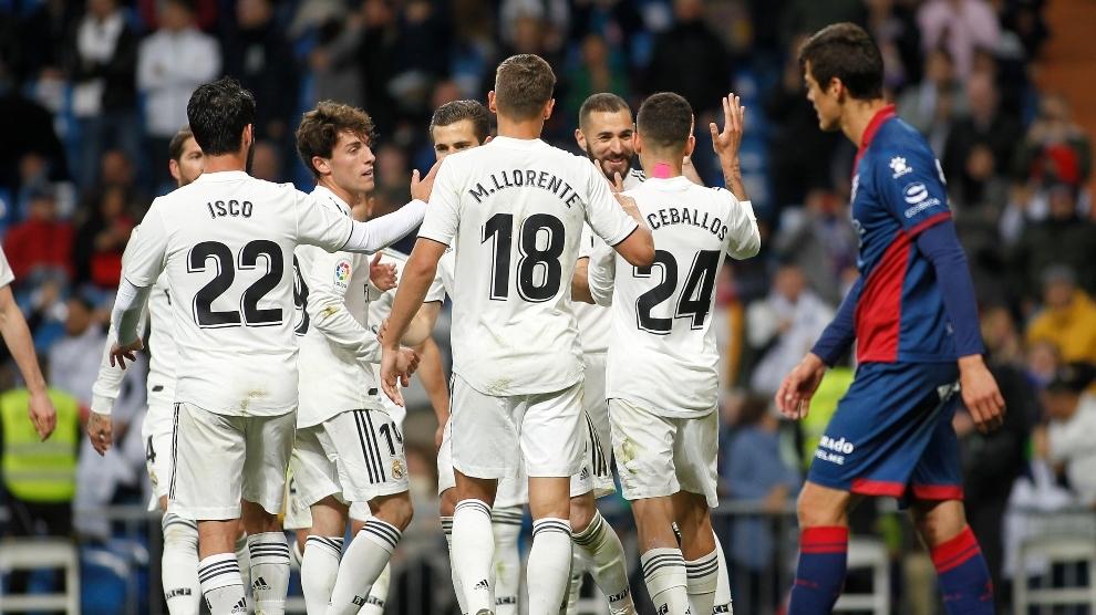 Último partido en el que no jugó ni Casemiro ni Kroos ni Modric, ante el Huesca en 2018-19.