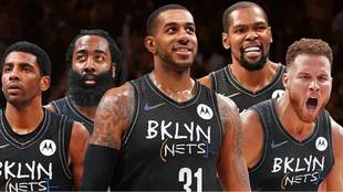 Brooklyn Nets Durant Kyrie Irving Harden