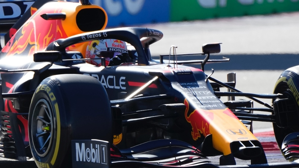 Max Verstappen en Sochi 2021