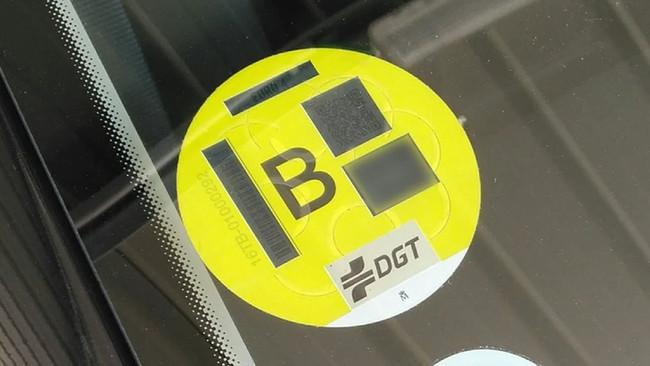Etiqueta B - Madrid Central - Distintivo amarillo - Zona de bajas...