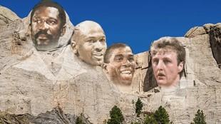 Bill Russell, Michael Jordan, Magic Johnson y Larry Bird, el...