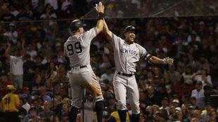 Los Yankees pegan temprano y ganan el primero de la serie ante los Red Sox