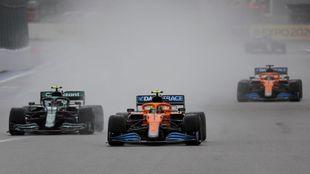 Lando Norris Carlos Sainz George Russell Russian GP F1