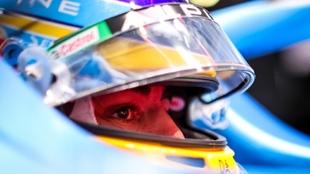 Fernando Alonso en Rusia 2021.