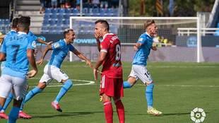 Bogusz celebra el golazo que abrió el marcador en Can Misses
