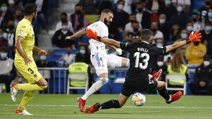 Benzema intentó romper el cero.