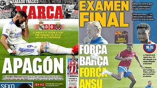 Las portadas: 'Apagón', 'Examen final'...