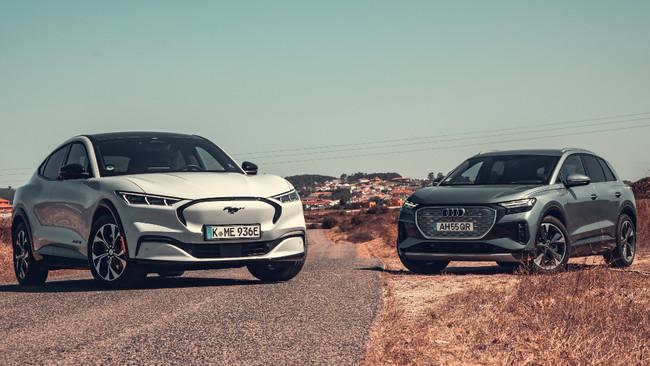 Audi Q4 e-tron - Ford Mustang Mach-E - SUV electricos