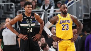 Giannis Antetokounmpo and LeBron James.