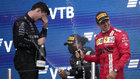 Carrerón: la 100 de Hamilton, Sainz es tercero y Alonso acarició el podio