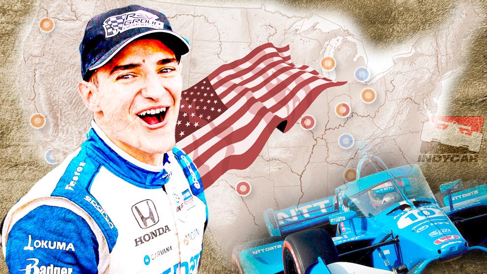 Alex Palou - campeon de Indycar - Long Beach - historico - Ganassi