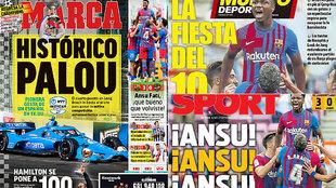 Las portadas: gesta española en EEUU, la fiesta del 10...