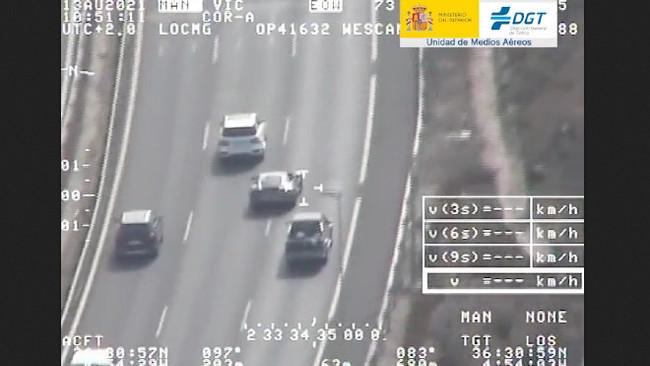 Cazan a un conductor a 250 km/h y en Twitter claman contra los de la izquierda