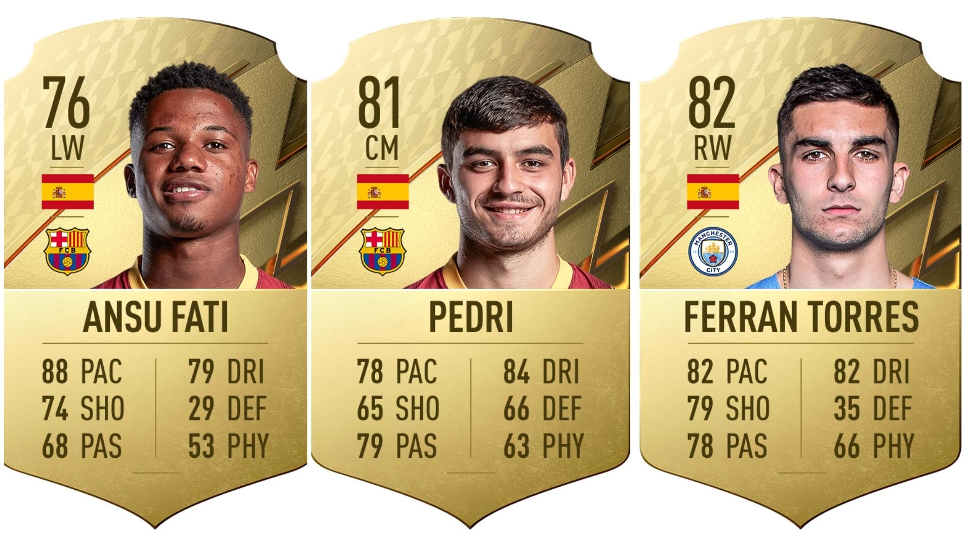 Ansu Fati, Pedri y Ferrán Torres entre los jugadores con más potencial en FIFA 22