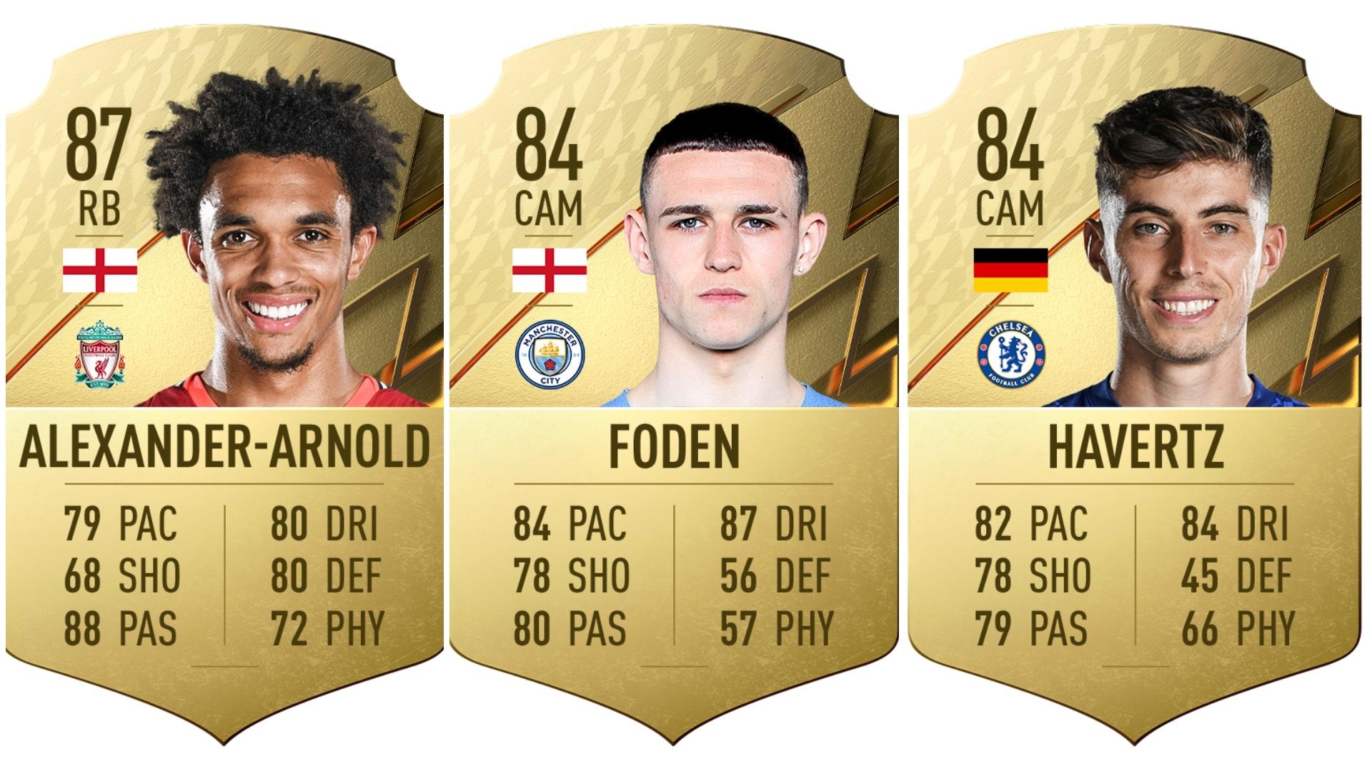 Alexander-Arnold, Havertz y Foden entre los jugadores con más potencial de FIFA 22